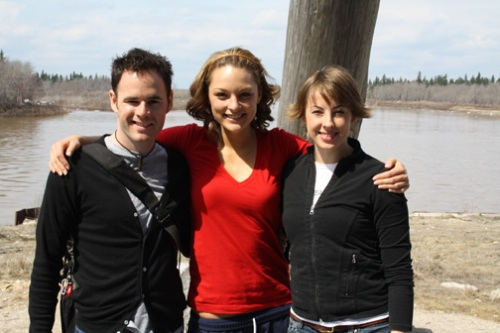 Ryan, Julia and I at the Ecolodge, Moose Factory